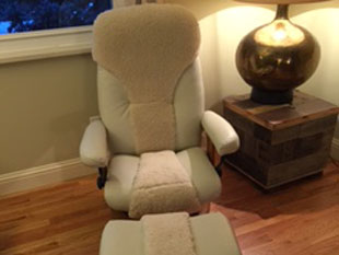 denver upholstery custom chair and ottoman